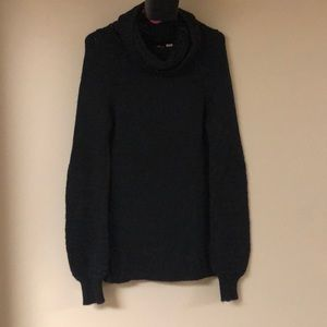 Anthropologie Moth Black Cowl Neck Sweater